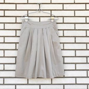 Banana Republic Pleated Cotton Khaki Skirt